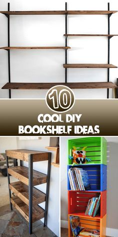 Cool DIY Bookshelf Ideas Books are very important part of our life so good organization of these books is also very important. There are several ways to keep your books in good condition. You can t…