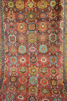 Antique Persian Rug // Large Kurdish by SevenHillsCollection