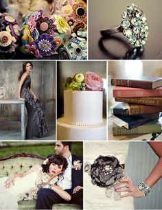 Vintage Gray Wedding Theme. Don't care much for the bridesmaid dress, but the theme is nice, classy and elegant.