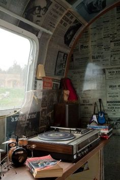 Record player = essential airstream decor by Janny Dangerous