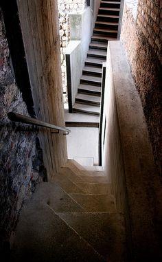 Stairs of Carlos Scarpa, Castlevecchio, Verona, Italy
