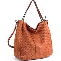 026167b70f WISHESGEM Women Handbags Top-Handle Fashion Hobo Tote Bags PU Leather  Shoulder Satchel Bags Brown