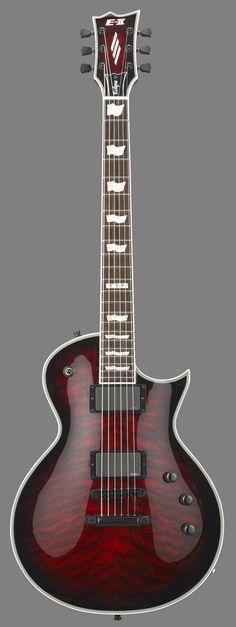ESP E-II Eclipse EC-II QM Guitar See-Thru Black Cherry Burst
