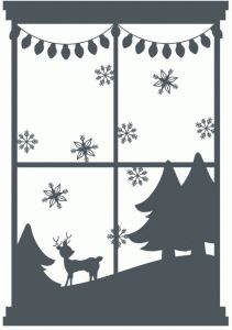 Silhouette Design Store - View Design #70245: christmas window