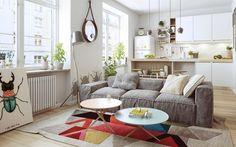 4 appartements qui révèlent la beauté du design dintérieur Nordique