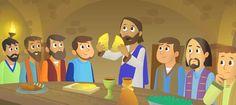 Ilustración de Jesús en la última cena