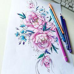 #dibujos #peonies