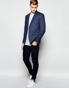 Immagine 4 di New Look - Blazer blu navy