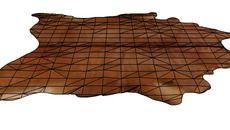 Modelo 3D de tapete couro Maciel
