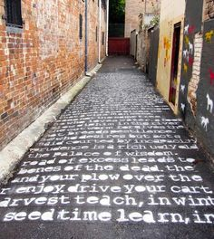 William Blake painted onto a lane in Surry Hills, Sydney. Found on twitter