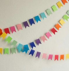 Recycling for handmade garlands, 15 brilliant decoration ideas - . - Recycling for handmade garlands, 15 brilliant decoration ideas – - Diy Birthday Banner, Diy Banner, Felt Banner, Birthday Table, Bunting Banner, Diy And Crafts, Crafts For Kids, Paper Crafts, Paper Bunting