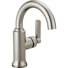 Delta Alux SpotShield Brushed Nickel 1-handle Single Hole Bathroom Faucet