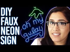 How To Make Faux Neon Sign : Oh My Gulay DIY - YouTube
