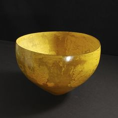 Turned Wood Vessel, Yellow Polished Sycamore, 16.5 cm x 23 cm  Artist  Merete Larsen