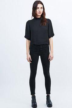 Light Before Dark - Jean skinny taille ultra-haute noir