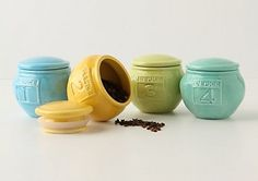 Spice jars...cute and cheap!  $4