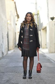 Saint Laurent Coat, Red Valentino Dress, Proenza Schouler Bag, Gipsy Tight, Zara Boots