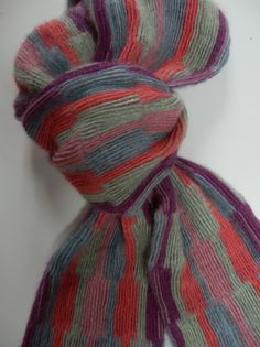 "Angora collapse scarf ""Minstrel II"". Cord  weave with reversed weave structure. Angora, alpaca, wool"