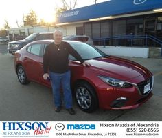 https://flic.kr/p/ADrb9B | Happy Anniversary to Charles on your #Mazda #Mazda3 from Brandon Martin at Hixson Mazda of Alexandria! | deliverymaxx.com/DealerReviews.aspx?DealerCode=PSKP