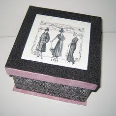 Cartonnage passion: La boîte Rosalie