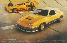 Yellow 1980 McLaren M81 Mustang