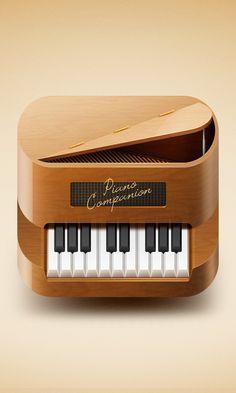 Piano App icon by Eriks Cernevskis, via Behance