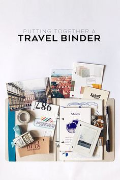 Keep things classic with a scrapbook or travel binder: | 20 Ways To Display Keepsakes From Your Travels And Trips