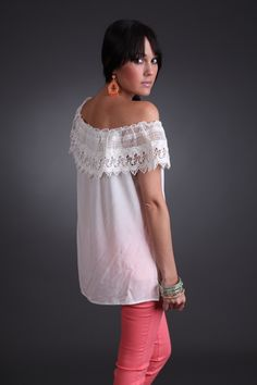 #Crochet #Ivory #Top only $32.99 #fourthandocean #online #store #need #fashion #fiesta #offtheshoulder #chic #flirty