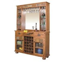 Nebraska Furniture Mart – Sunny Designs Rustic Oak Server and Back Bar. This would be a great piece downstairs separating family room & play area.