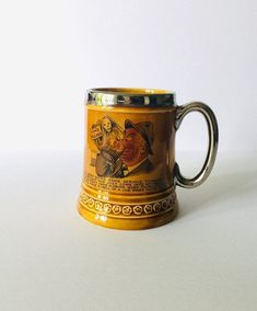 """Humorous """"Time Please""""  Lord Nelson Pottery Beer Stein - Vintage, Pubware, Breweriana, Barware. Man Cave, Food & Drink, Kitchen and Dining 1950s Pin Up, Red Rose Tea, Beer Stein, The Grim, Man Cave, Barware, How To Make Money, Lord, Pottery"""