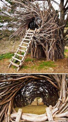 Amazing outdoor nest bed. HOW SWEET IS THIS!?!?
