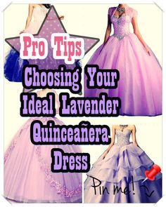 Lavender Quinceanera gown - One of the most significant planning actions for a Quinceanera party, if not the most crucial one, is the variety of the Quinceanera dress. Lavender Quinceanera Dresses, Quinceanera Party, Social Events, Different Patterns, Aurora Sleeping Beauty, Feminine, Gowns, Party Planners, Women