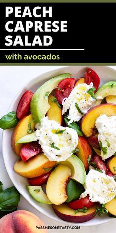 Avocado Recipes, Healthy Salad Recipes, Lunch Recipes, Healthy Eats, Salade Caprese, Appetizer Salads, Appetizers, Gluten Free Recipes, Easy Recipes