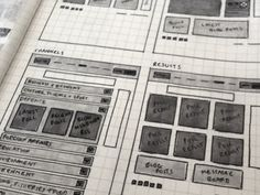 Dribbble - Wireframing again by Robbie Manson