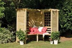 Arbor seat idea...think this is a good do it yourself project!
