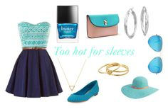 """""""Too hot for sleeves"""" by zaza2000 ❤ liked on Polyvore featuring Wanderlust + Co, Splendid, Ray-Ban, Blue Nile, Betmar, Gorjana and Butter London"""