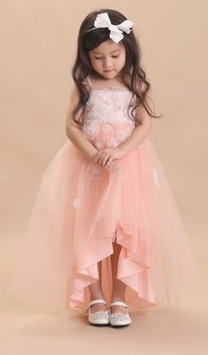 DORIAN HO Baby Doll FW 17/18 Gowns For Girls, Wedding Dresses For Girls, Little Girl Dresses, Flower Girl Dresses, Toddler Fashion, Kids Fashion, Dress Anak, Kids Gown, Kids Frocks