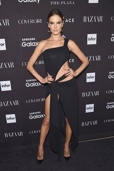 New York Fashion Week! Alessandra Ambrosio attends the 2015 Harper's BAZAAR ICONS Event at The Plaza Hotel on September 16, 2015 in New York City.