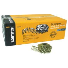 """Bostitch Stanley CR3DGAL 7200-count 1-1/4"""" Smooth Shank 15° Coil Roofing Nail"""