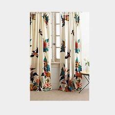 Anthropologie Soaring Starlings Curtain One Panel | eBay