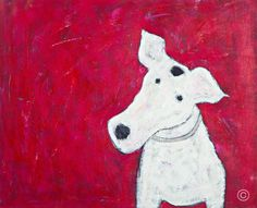 ANNORA SPENCE-My Dog br Arcylic With Mixed Media br 440mm x 540mm br a href=mailto:info@annora-spence.comThis item is available for purchase