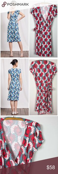 5588d72f054f Boden Summer Wrap Dress Feather Printed 10 Soft, drapey, elegant: our Summer  Wrap