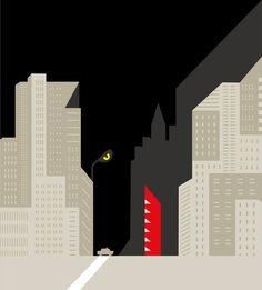 The wolf of wall street by Noma Bar for Empire