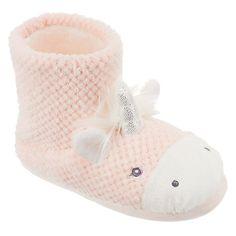 Buy John Lewis Children's Unicorn Slipper Boots, Pink Online at johnlewis.com