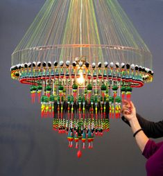 Float Chandelier Float by Tweelink / Lighting / LED – Light Ideas How To Make A Chandelier, Diy Chandelier, Chandeliers, Deco Ethnic Chic, Lamp Light, Light Up, Diy Luminaire, Decoration Evenementielle, How To Make Light