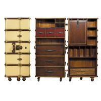 Koffer Büro Schrank Ivory - Authentic Models Möbel