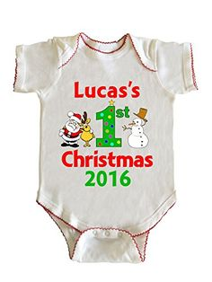 Ethans First Christmas Baby Boy Infant Bodysuit by Fashion Greek White NB >>> See this great product. (This is an affiliate link) Baby's First Christmas Outfit, Boys Christmas Outfits, Baby Girl Christmas, Babies First Christmas, 1st Christmas, Thanksgiving Baby, Baby Play, Baby Bodysuit, Baby Boy Outfits