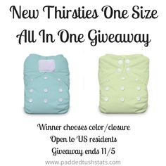 Thirsties OS AIO Giveaway. Open to US residents, ends 11/5.