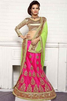 Gorgeous Rani Pink Lehenga Choli - Lehenga Choli - Women