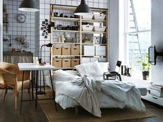 Ways To Decorate A Studio Apartment cosy place | my home white home | pinterest | small apartments